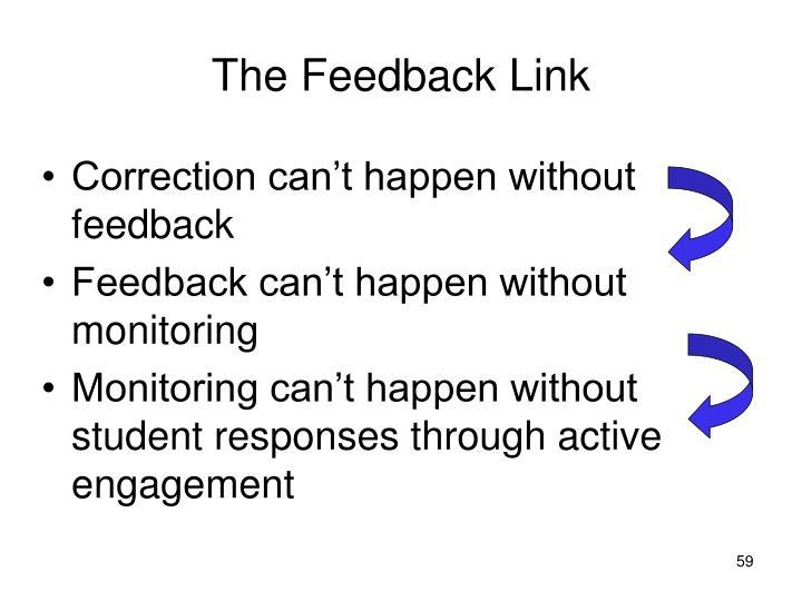 The Feedback Link
