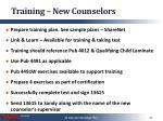 training new counselors