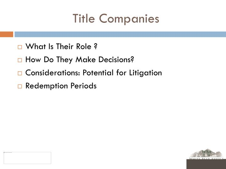 Title Companies
