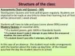 structure of the class