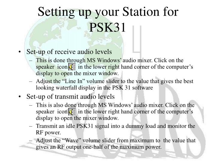 Setting up your Station for PSK31