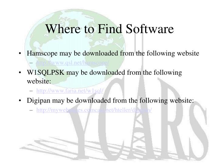 Where to Find Software