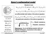 egnor s mathematical model