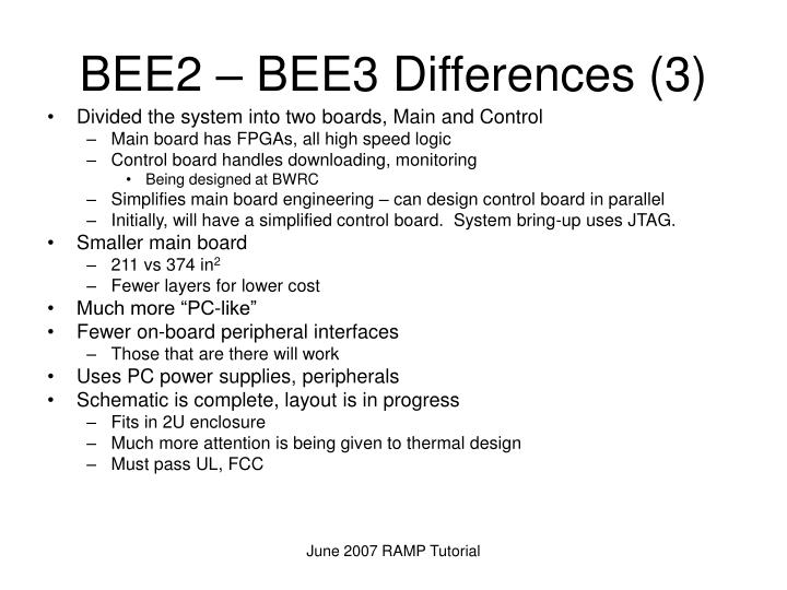 BEE2 – BEE3 Differences (3)