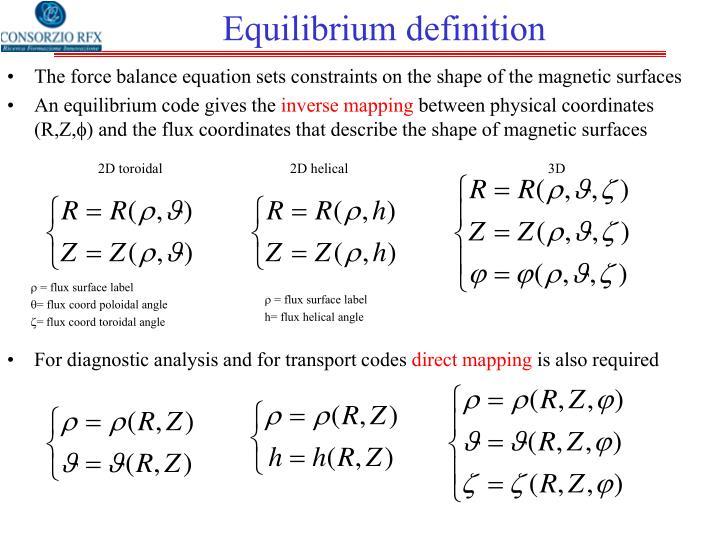 Equilibrium definition