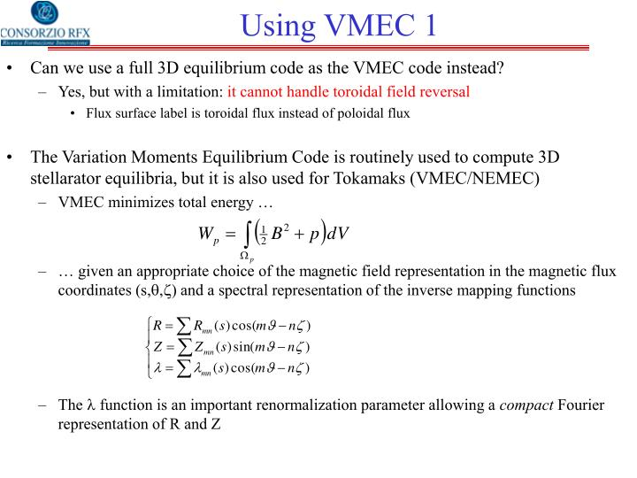 Using VMEC 1