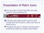 presentation of metric icons