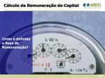 c lculo da remunera o do capital