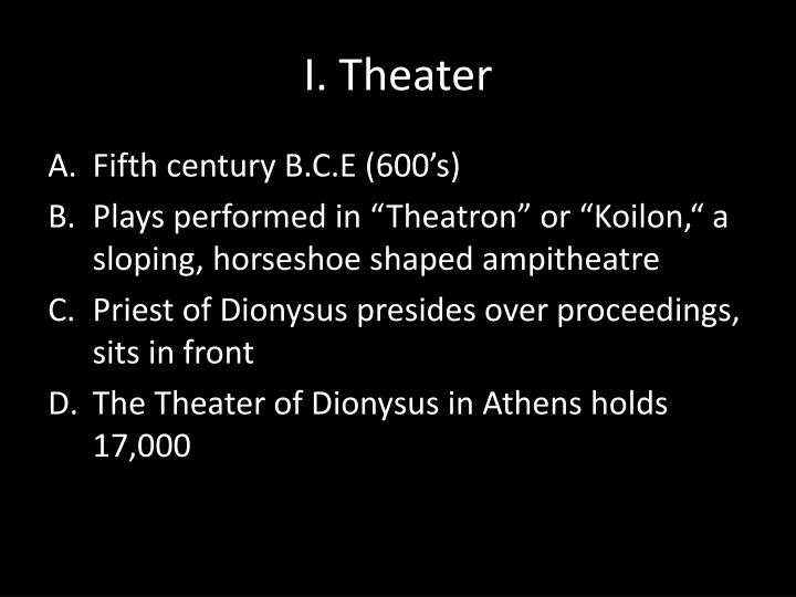 I theater