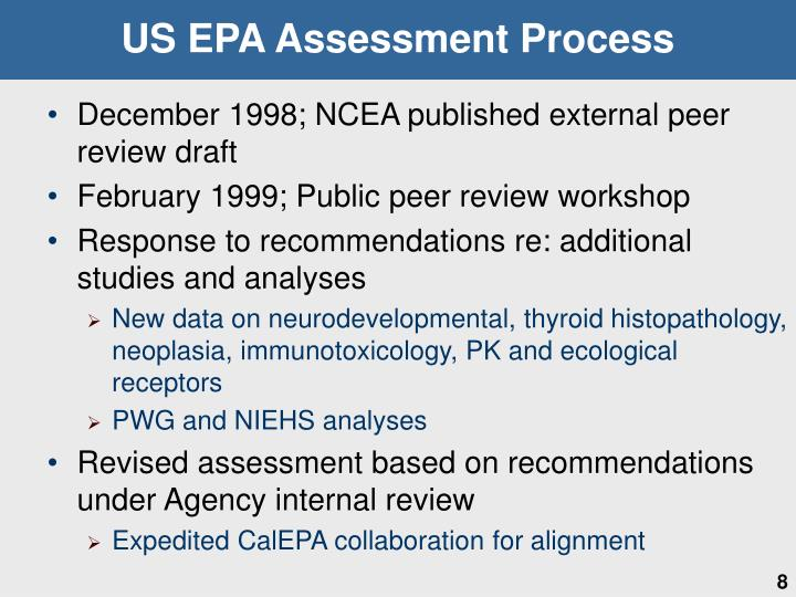 US EPA Assessment Process