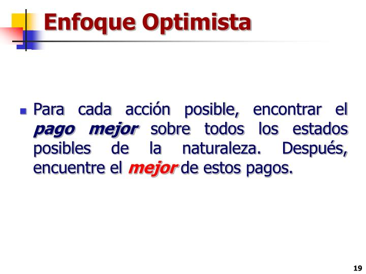 Enfoque Optimista