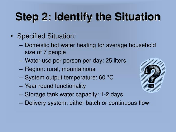 Step 2: Identify the Situation