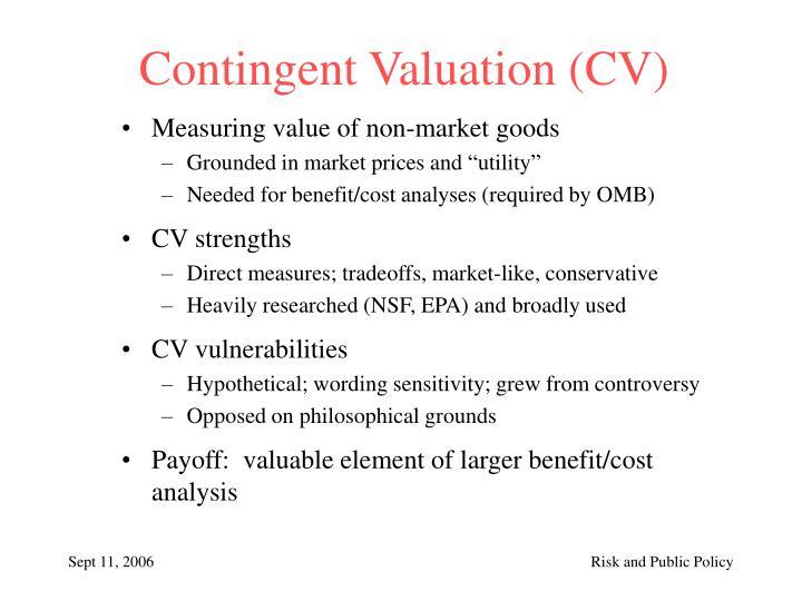 Contingent Valuation (CV)