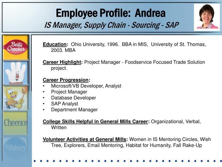 Employee Profile:  Andrea