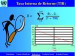 taxa interna de retorno tir