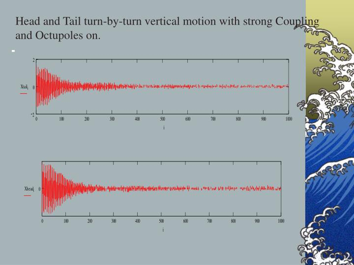 Head and Tail turn-by-turn vertical motion with strong Coupling