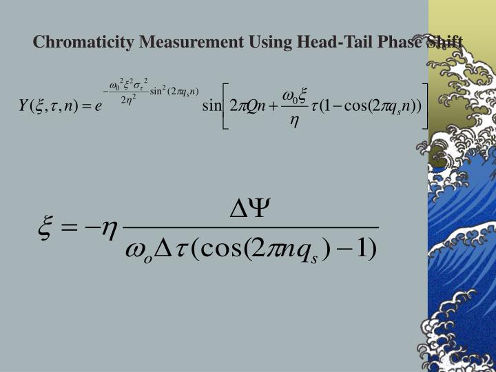 Chromaticity Measurement Using Head-Tail Phase Shift