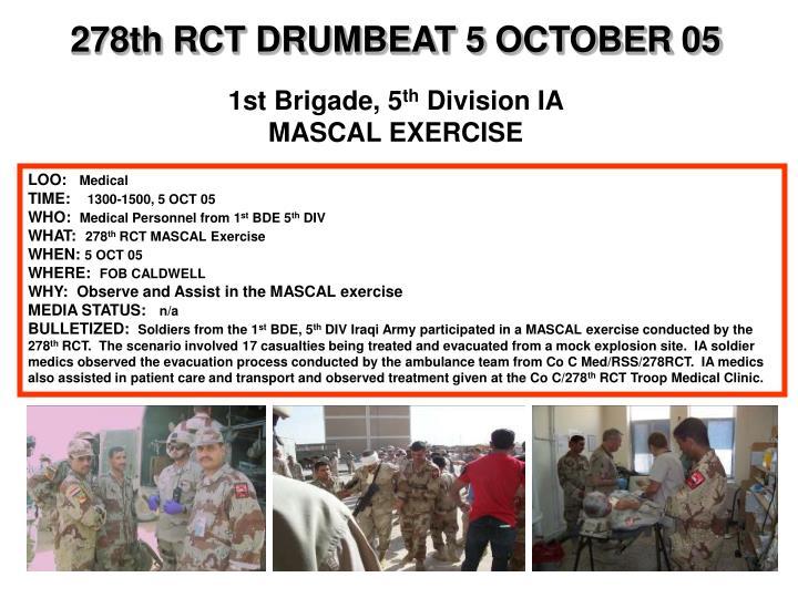 278th RCT DRUMBEAT 5 OCTOBER 05