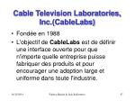 cable television laboratories inc cablelabs