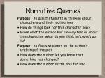 narrative queries