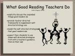 what good reading teachers do ash hagood 1998