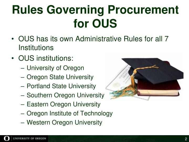 Rules governing procurement for ous