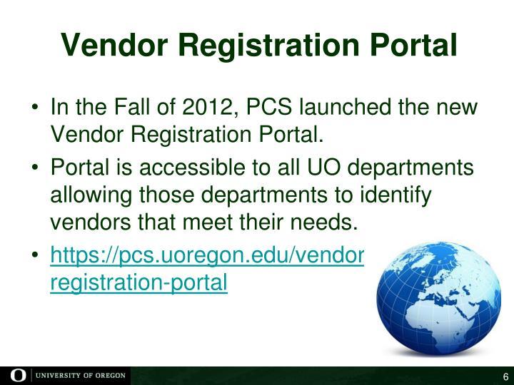 Vendor Registration Portal