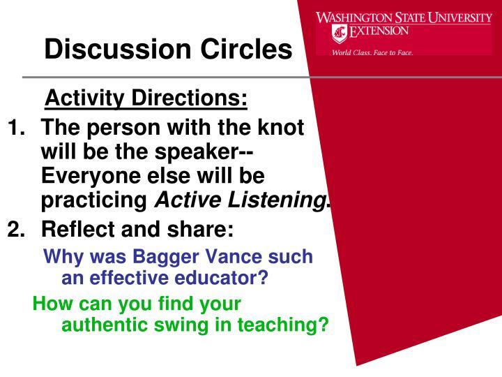 Discussion Circles