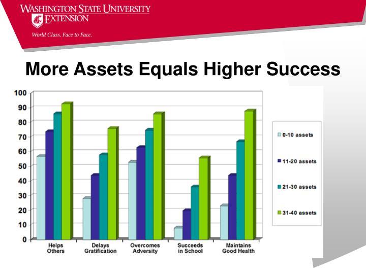 More Assets Equals Higher Success