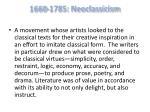 1660 1785 neoclassicism