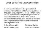1918 1940 the lost generation