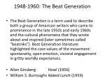 1948 1960 the beat generation