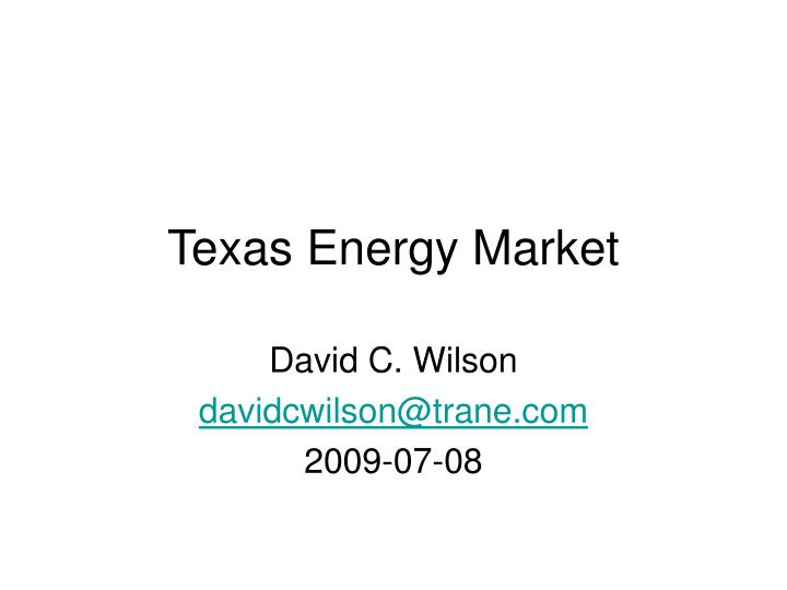 Texas energy market1