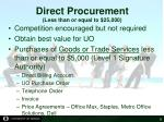 direct procurement less than or equal to 25 000