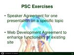 psc exercises