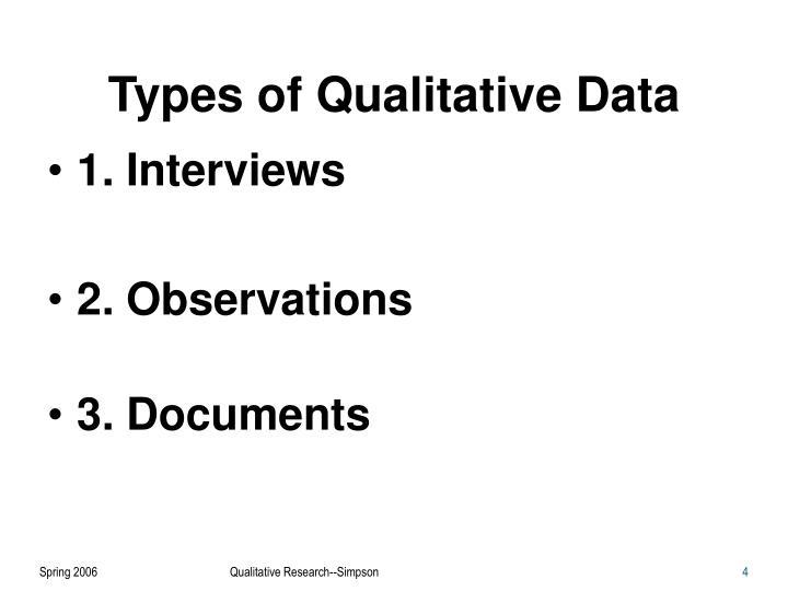 Types of Qualitative Data
