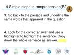 4 simple steps to comprehension p21