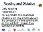 reading and dictation