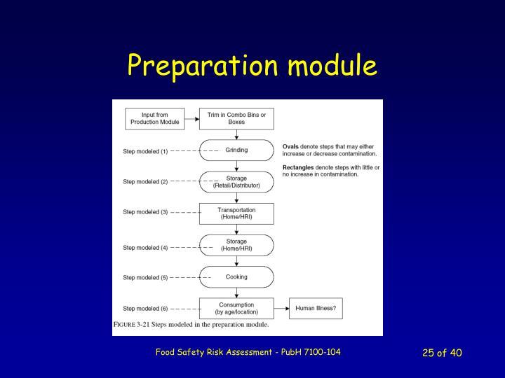Preparation module