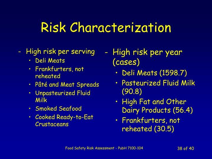 High risk per serving