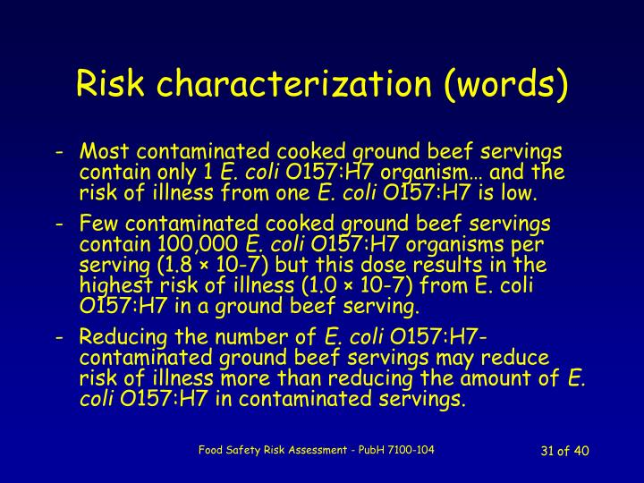 Risk characterization (words)