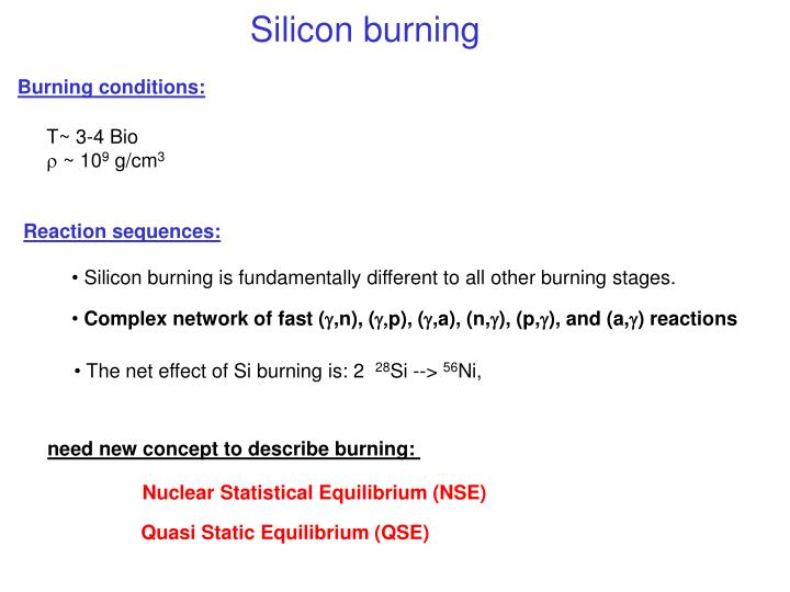 Silicon burning