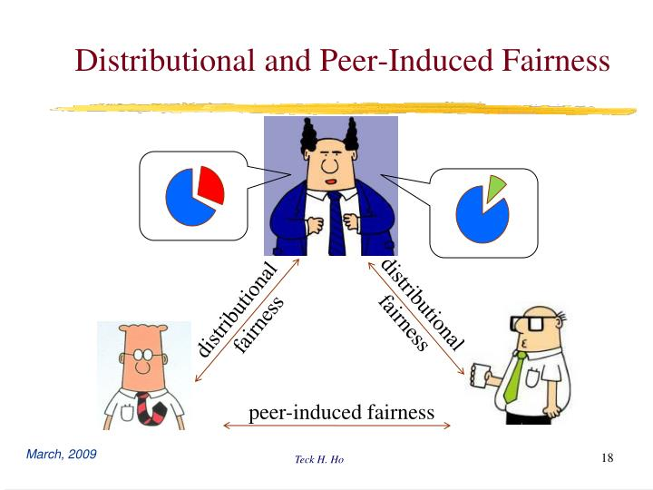 Distributional and Peer-Induced Fairness