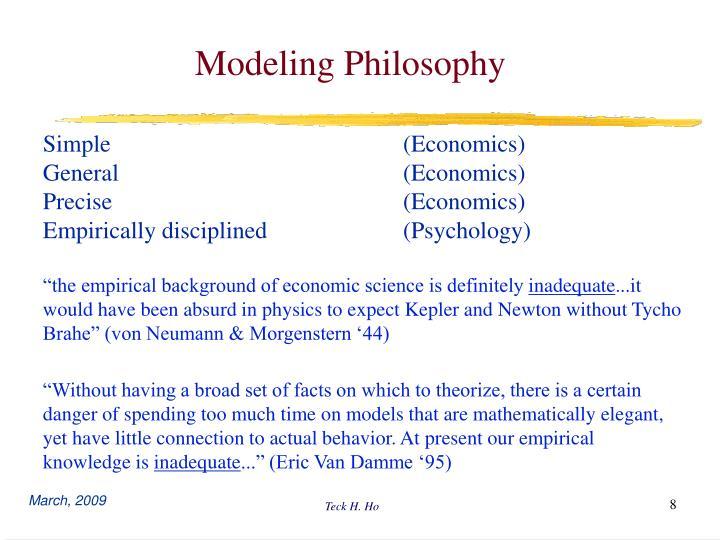 Modeling Philosophy