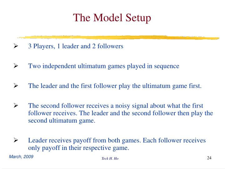 The Model Setup