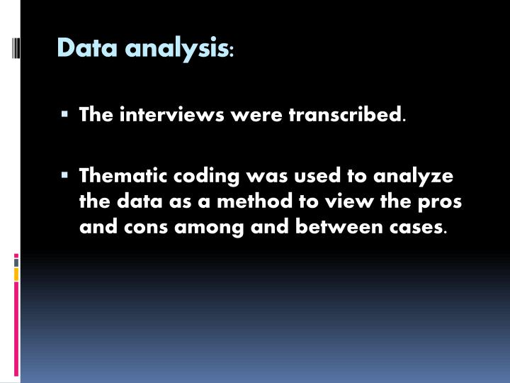 Data analysis: