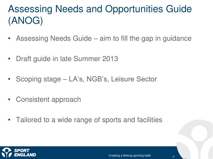 Assessing Needs and Opportunities Guide (ANOG)