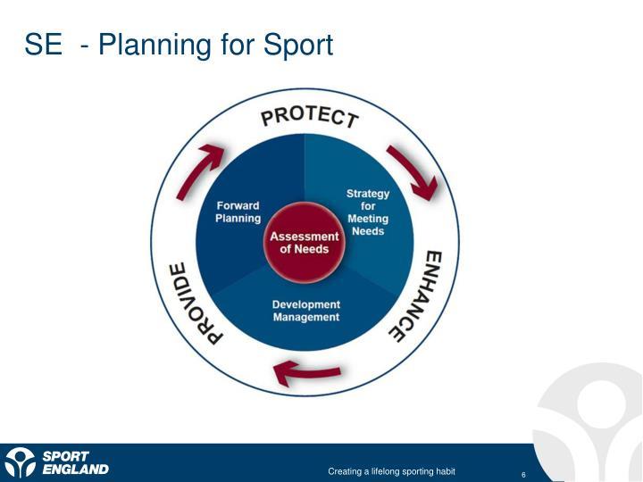 SE  - Planning for Sport