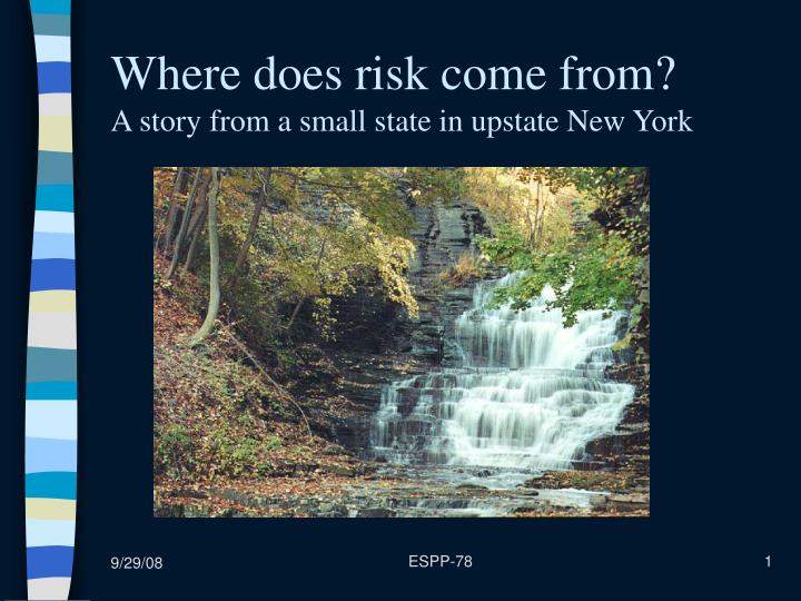 Where does risk come from a story from a small state in upstate new york
