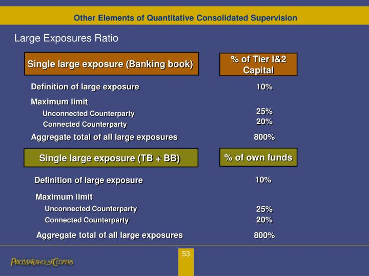 Other Elements of Quantitative Consolidated Supervision